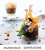 portion of luscious sweet... | Shutterstock . vector #1049515340