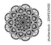 mandalas for coloring book.... | Shutterstock .eps vector #1049515430