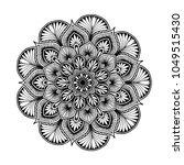 mandalas for coloring book.... | Shutterstock .eps vector #1049515430