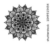 mandalas for coloring book.... | Shutterstock .eps vector #1049515454