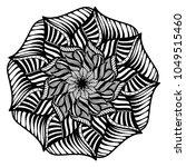 mandalas for coloring book.... | Shutterstock .eps vector #1049515460