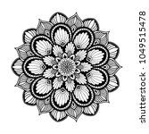 mandalas for coloring book.... | Shutterstock .eps vector #1049515478