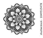 mandalas for coloring book.... | Shutterstock .eps vector #1049515478