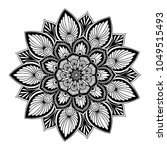 mandalas for coloring book.... | Shutterstock .eps vector #1049515493