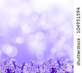 Small Violet Flowers On A...