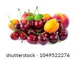 Mix Fruits Isolated On White...