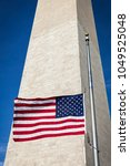 united states flag flying at...   Shutterstock . vector #1049525048