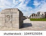 the world war ii memorial on...   Shutterstock . vector #1049525054