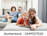 portrait of brother and sister... | Shutterstock . vector #1049527010
