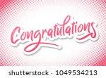 congratulations   typography ... | Shutterstock .eps vector #1049534213