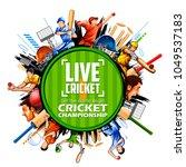 illustration of batsman and... | Shutterstock .eps vector #1049537183