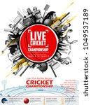 illustration of batsman and... | Shutterstock .eps vector #1049537189