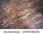 vintage hardwood floor   Shutterstock . vector #1049538320