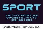 geometric sport font modern... | Shutterstock .eps vector #1049539166
