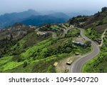 curve road on the moutain... | Shutterstock . vector #1049540720