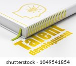 learning concept  closed book...   Shutterstock . vector #1049541854