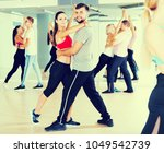 sports dancing pair dance ...   Shutterstock . vector #1049542739
