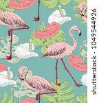 tropical seamless vector... | Shutterstock .eps vector #1049544926