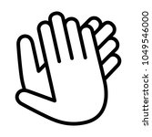 hands clapping  applauding or... | Shutterstock .eps vector #1049546000