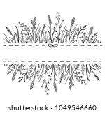 art hand drawn background with... | Shutterstock .eps vector #1049546660
