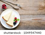 new york cheesecake or classic... | Shutterstock . vector #1049547440