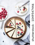 classic new york cheesecake... | Shutterstock . vector #1049547446
