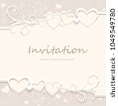 invitation card for the festive ... | Shutterstock .eps vector #1049549780