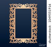 laser cut paper lace frame ... | Shutterstock .eps vector #1049551916