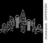 city vector icon on black... | Shutterstock .eps vector #1049555504