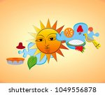 the dawn of the sinhala   tamil ...   Shutterstock .eps vector #1049556878