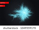 vector ball lightning or... | Shutterstock .eps vector #1049559170