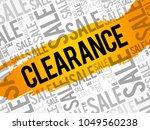 clearance sale words cloud ...   Shutterstock .eps vector #1049560238