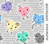 cute fashion seamless pattern... | Shutterstock .eps vector #1049561558