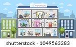photostudio interiors city... | Shutterstock .eps vector #1049563283