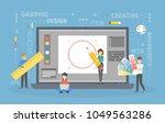 graphic design work. people... | Shutterstock .eps vector #1049563286
