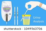 urine analysis tract exam... | Shutterstock .eps vector #1049563706