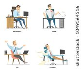 office emotions set. business... | Shutterstock .eps vector #1049564516