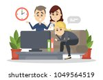 family watch tv at home....   Shutterstock .eps vector #1049564519