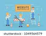 site under construction.... | Shutterstock .eps vector #1049564579