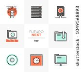modern flat icons set of... | Shutterstock .eps vector #1049568893