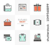 modern flat icons set of e... | Shutterstock .eps vector #1049568899