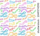 notes music melody colorfull... | Shutterstock .eps vector #1049574590