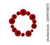 logo of poppies  stylization... | Shutterstock .eps vector #1049576873