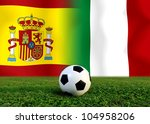 european cup  the spain... | Shutterstock . vector #104958206