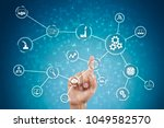 automation and iot  internet of ... | Shutterstock . vector #1049582570