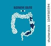 ulcerative colitis awareness... | Shutterstock .eps vector #1049585594