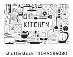 hand drawn illustration cooking ... | Shutterstock .eps vector #1049586080