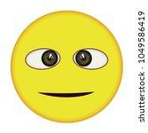 oblique suspicious  smiley | Shutterstock . vector #1049586419