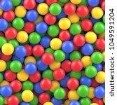 dry children's pool with... | Shutterstock .eps vector #1049591204