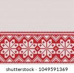 norway festive sweater fairisle ... | Shutterstock .eps vector #1049591369